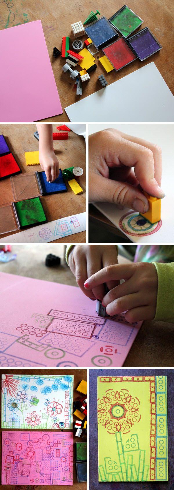 faire un tampon encreur en lego arts pla enfants pinterest lego estampillage et blog. Black Bedroom Furniture Sets. Home Design Ideas