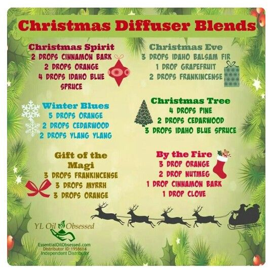 Christmas Essential Oil Diffuser Blends www.facebook.com/YLnatural Sponsor/Enroller ID: 1561016 or leave a comment on this pin!
