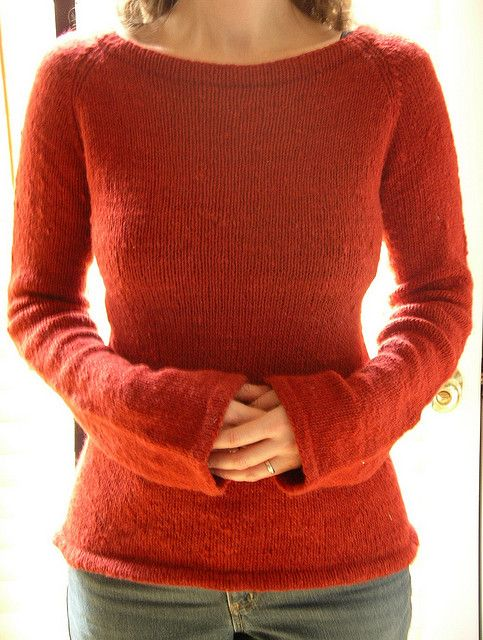 Hourglass Sweater by Joelle Hoverson...very pretty and simple. Would be easy to insert design elements to make it more interesting or turn into a cardigan