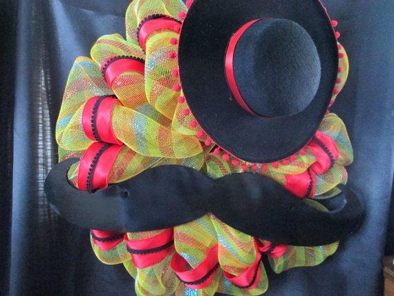 Cinco de Mayo wreathSpanish wreathMexican by SpiceyBirdCreations, $59.00