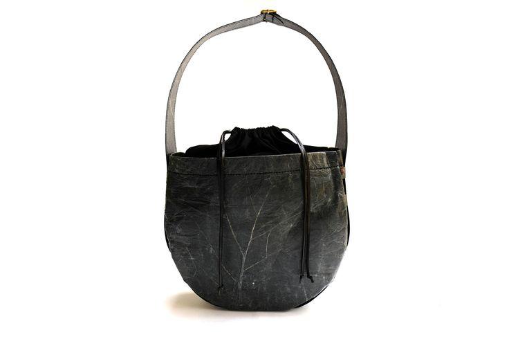 NUVI NOMAD leaf leather alternative, beautifully handcrafted handbag!