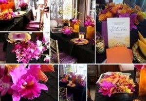 Black, Pink, & Orange colors for my wedding!