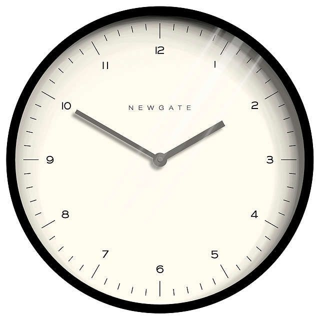 BuyNewgate Mr Turner Wall Clock Dia 45cm Black Online At Johnlewis