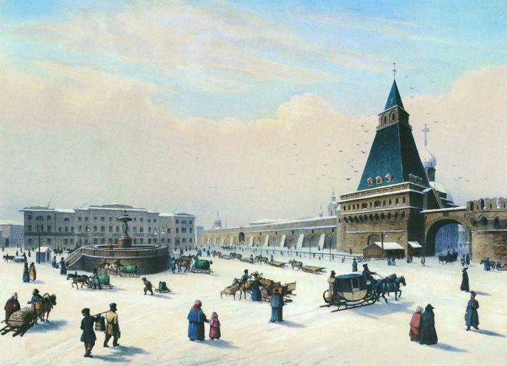Луи Пьер-Альфонс Бишебуа (1801–1850). Вид Лубянской площади. 1840-е гг.