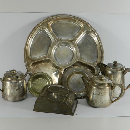 Silver Cheese Cover - EPNS Hotel Ware - Hotel Ware - from a bygone era at the Hotel Canobolas, Orange, NSW - many different pieces in stock - discount for multiple purchases, contact us for details.
