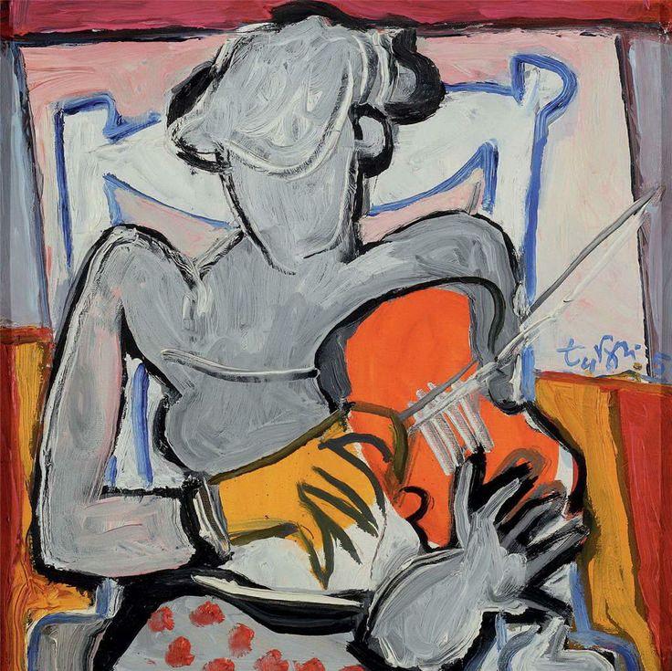 Adnan Turani Müzisyen 40.00 x 40.00 cm. 2005 Tual üzerine yağlıboya