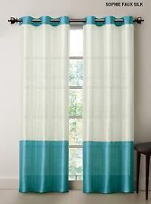 Striped turquoise and white curtain curtains pinterest - White and turquoise curtains ...