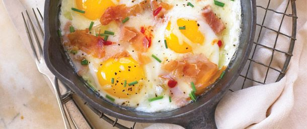Serrano Braised Eggs. One of over 200 delicious recipes from Boar's Head.