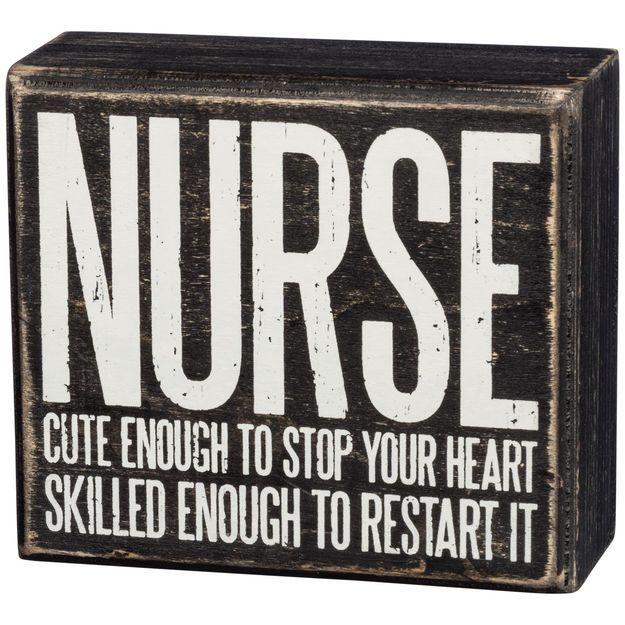"Primitives by Kathy ""Nurse"" Wood Box Sign"