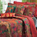Jewel 3-piece Quilt Set   Overstock.com Shopping - The Best Deals on Quilts