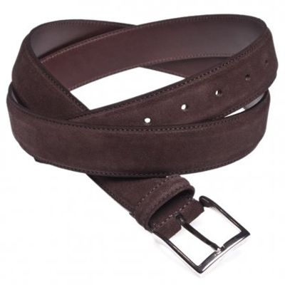 Get EMANUEL BERG Brown Suede Belt made from 100% leather.for more information visit here http://www.ashtonmarks.com/Emanuel-Berg-25AND890R01M9-p/25and890r01m9.htm