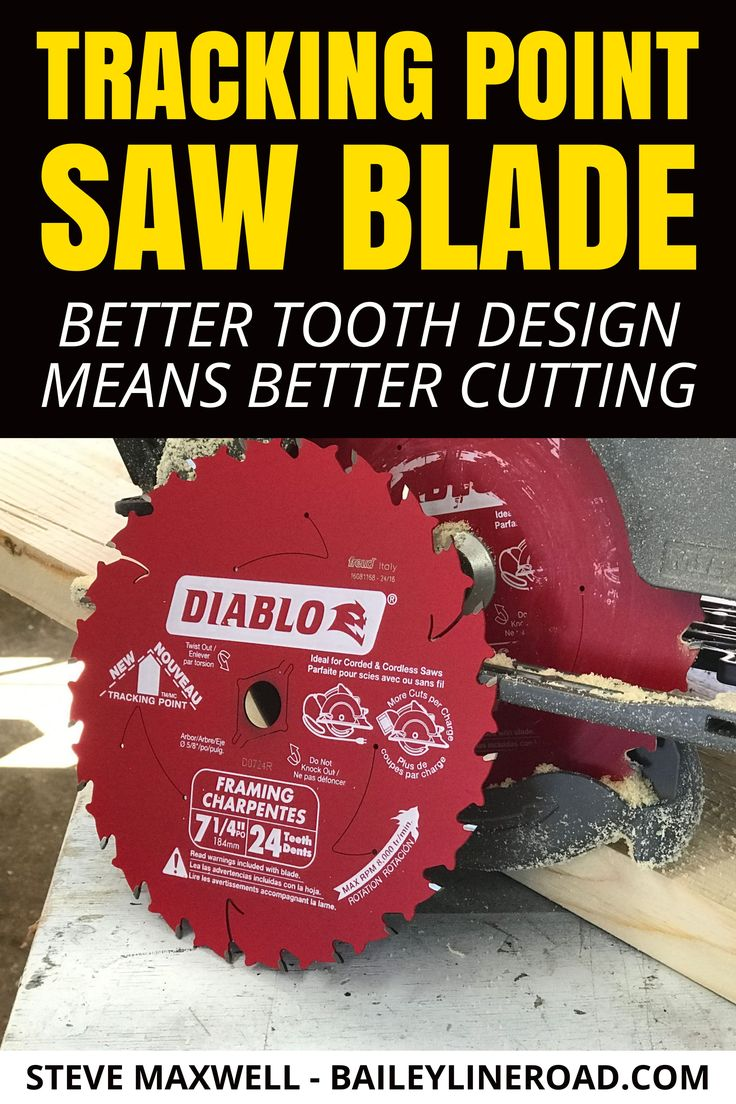 Diablo tracking point saw blade great design makes