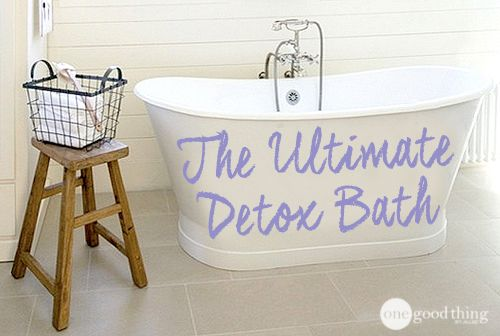 """If you are feeling lethargic or sluggish or you are just experiencing """"brain fog"""", try a Detox Bath! It's a great way to help your body get rid of toxins and ease some of these symptoms."""