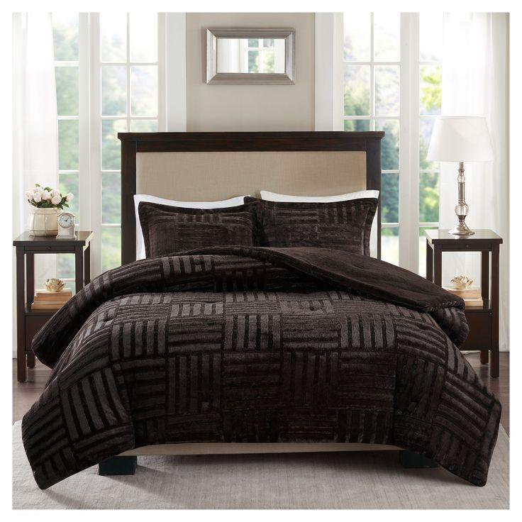 Polar Brushed Faux Fur Comforter Mini Set : Target