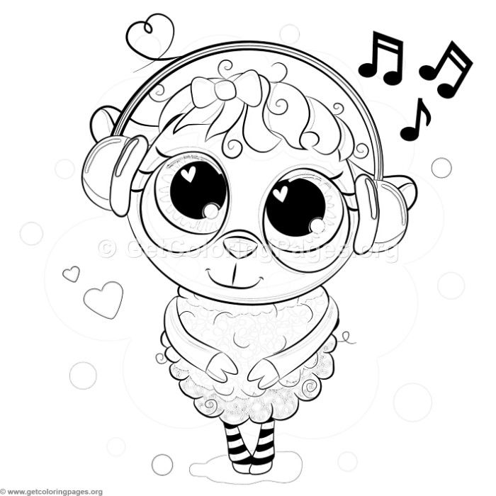 Download For Free Cute Sheep And Music Coloring Pages Coloring Coloringbook Coloringpages Animals Coloring Pages Cute Coloring Pages Music Coloring