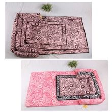 Pet Dogs Sofa Bed Mats Cushion Cotton Dog Foldable Car Seat Cover Print Cat Seat Mat House (Random Color)