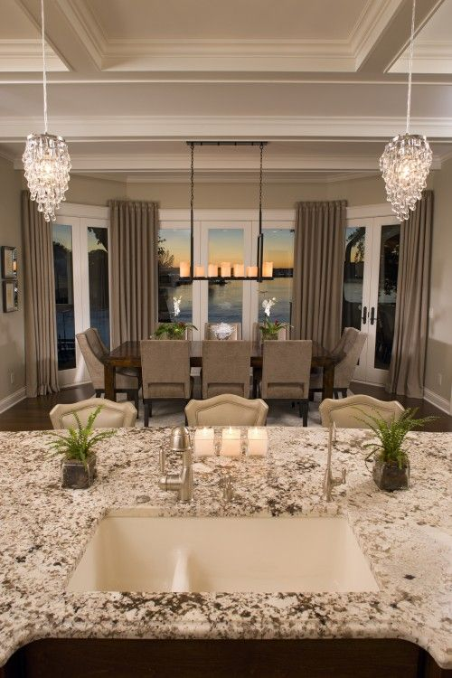 check out that viewTraditional Design, Decor, Ideas, Dining Area, Dining Room, Kitchens Design, Traditional Kitchens, The View, Diningroom