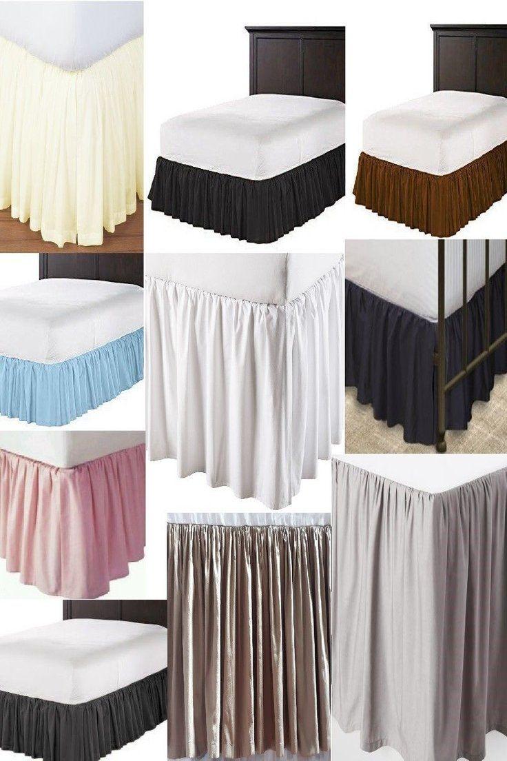 38 21 Solid Ruffle Split Corner Bed Skirt 630 Tc Cotton Color