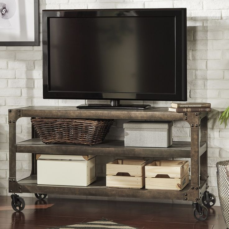 17 best ideas about industrial tv stand on pinterest tv stands industrial and media consoles. Black Bedroom Furniture Sets. Home Design Ideas
