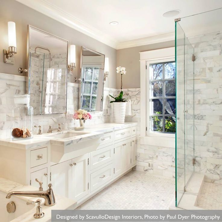 White marble bathrooms luxurious bathrooms pinterest for Bathroom ideas marble tile
