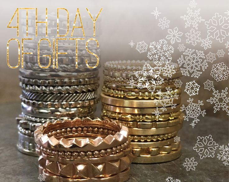 DAY 4… STACKING RINGS FOR THE WOMAN WHO SETS HER OWN TRENDS  This timeless style has been omnipresent since pre-roman times. Each combination exudes its own style and character. From delicate to bold and often a combination of elements. Color, shape, texture, and gemstones combine in an infinite number of combinations. #customjewelry #holidaygifts #giftsforher #designerjewelry #uniquerings #stackingrings #customrings #rosegoldrings #goldrings #holidayaccessories