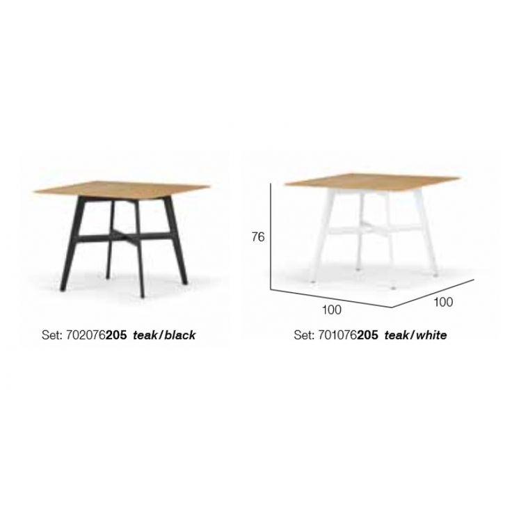 dedon seax esstisch teak quadratisch 100x100 cm dedon gartenm bel garten gartenm bel und m bel. Black Bedroom Furniture Sets. Home Design Ideas