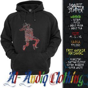 hoodie sweater jumper air jordan 1 print rubber 1 sisi abu-abu / putih / hitam