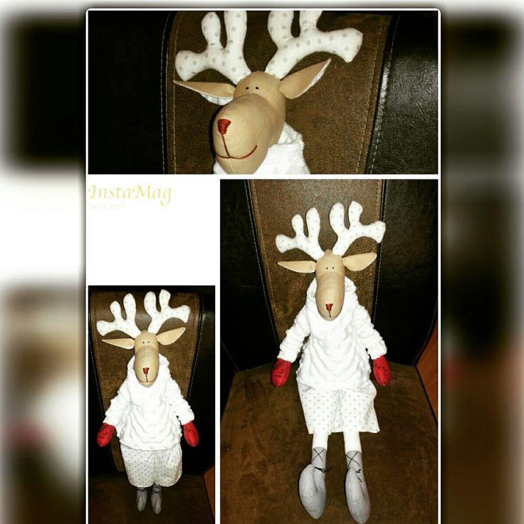 Reindeer, christmas decor, christmas toy, sew toy