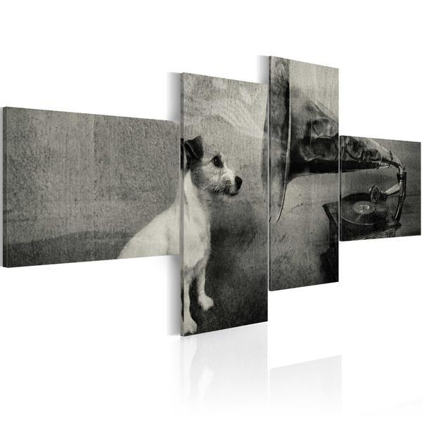 Quadro - Grammofono e cagnolino. Prezzo a partre da €74,99 cm100x45 e spedizione gratuita #quadriretro #quadrivintage #ilydecor