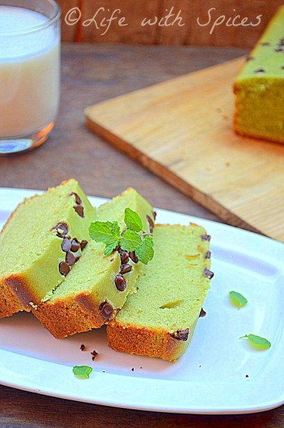 EGGLESS MATCHA BUTTERMILK POUND CAKE | Life with spices