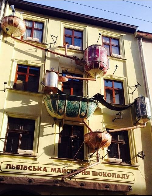 Lviv Chocolaterie Making Factory in old town: buy chocolates and sweets, have a cup of hot chocolate