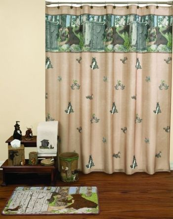woodland critters gotta go shower curtain and bath accessoriesbath accessory setcheap bath