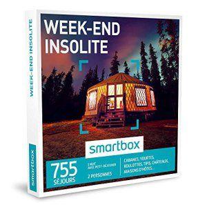 SMARTBOX – Coffret Cadeau – WEEK-END INSOLITE – 755 séjours : cabanes, yourtes, roulottes, tipis, châteaux, maisons d'hôtes