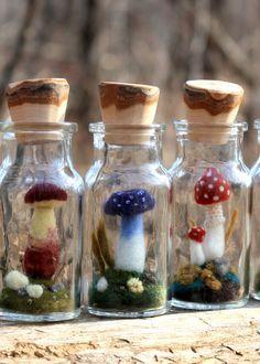 mason jar needle felt arts - Google Search