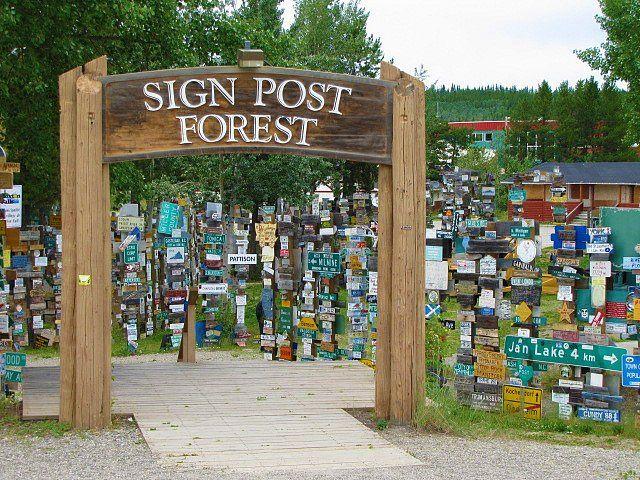 Sign Post Forest, Watson Lake, Yukon Territory, on the Alaska Highway.