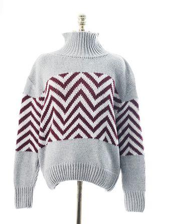 패턴터틀넥,knit