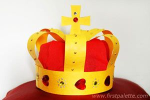 Instructions for making this crown can be found on the website First Palette.