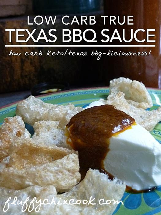 Low Carb Texas BBQ Sauce Recipe from Fluffy Chix Cook.