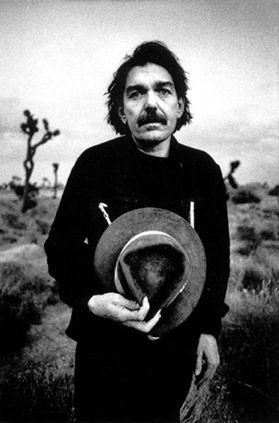 """Captain Beefheart, by Anton Corbijn, Mojave Desert, USA 1980.  """"Shot on the day I first met him in August 1980. This is one of  two photographs I took of him with his hat in his hand and he  suddenly became more a person than an artist I was  photographing  it ended up as a picture on the sleeve for his  album """" Ice Cream for Crow """" and we ended up as friends."""""""