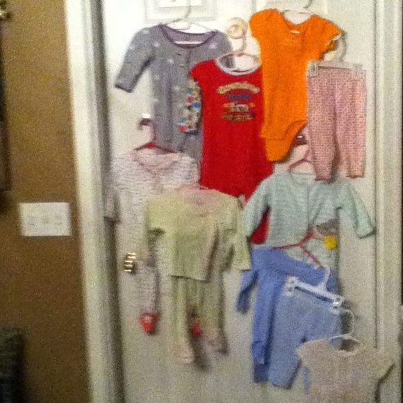 Baby girl pajamas 9month old  7 pj and 1 outfit Baby girls pajamas for 9 months old 7 pj's and one outfit in great condition bundle 16 Cartier Intimates & Sleepwear Pajamas