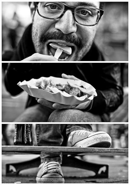 This one is the best representation of what the TKT portraits would be. This is the only with an action happening. The rest felt posed.   Eating the food and holding it in his hands creates a feeling of life as opposed to still photography.