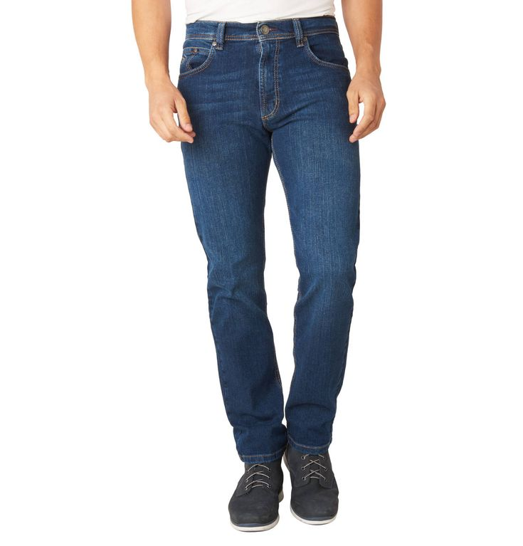 """Denim trousers """"Nevada"""", Straight Fit, Contrast stitching"""