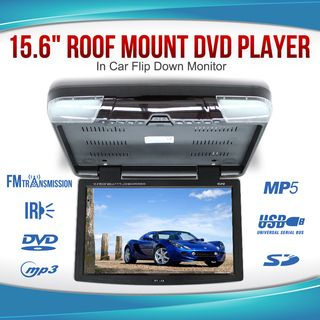 "15.6"" DVD player Roof mount In Car Flip Down Monitor suit 12V/24V vehicle"