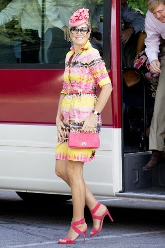 Queen Maxima on the 7th day of the 10 day visit to the Dutch Antillen, Curacao