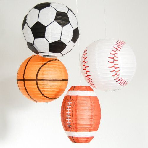 SoccerFootball BaseballBasketball Paper Lantern by buythewayshop