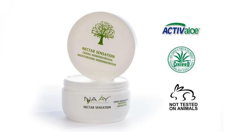 Crema hidratante ecológica Naay Botanicals con Aloe Vera y aceites de almendras, rosa mosqueta, oliva, aguacate, germen de trigo y vitamina E. Regeneración celular.