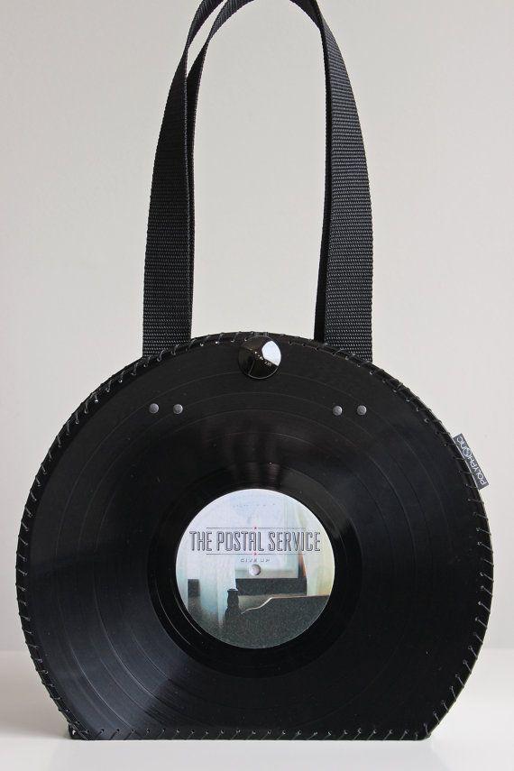 Vinyl Record Handbag Purse Bag Retro By