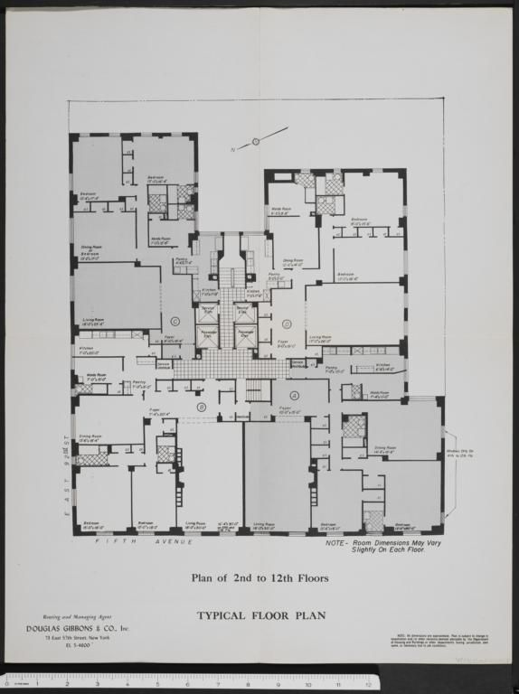 1107 Fifth Avenue 1107 Fifth Avenue Columbia Digital Library Collections Apartment Floor Plans Floor Plans City Living Apartment