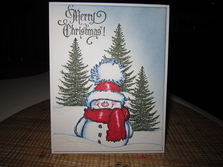 """The image is a Penny Black stamp, """"Snowy""""! The sentiment is Tim Holtz! I love how fancy it is! TFL!"""