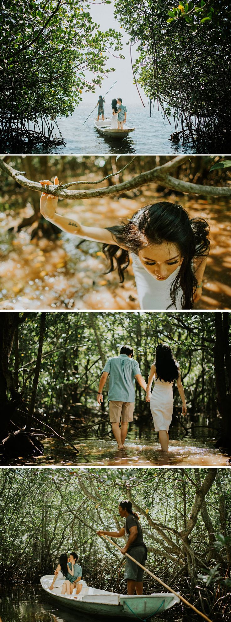Bali engagement shoot in the mangrove forest of Lembongan island...